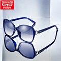 Triumph vision lente gradiente gafas de sol polarizadas para las mujeres primera marca de lujo gafas de sol mujer estilo mariposa 2017 tonos