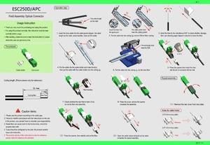 Image 4 - 200PCS/Pack FTTH ESC250D APC UPC Single Mode Fiber Optic SC APC Quick Fast Field Assembly Connector For Drop Cable Best Price