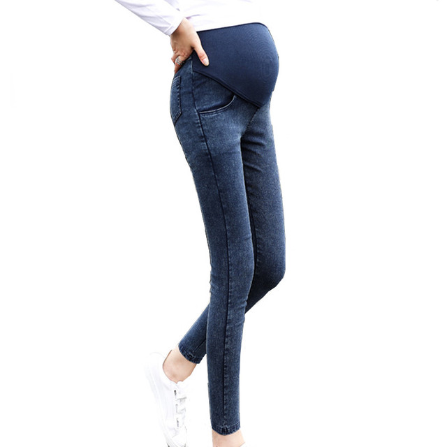 6767f3710fde5 Maternity Jeans Skinny Belly Care Pants for Pregnant Women Maternity  Trousers Pregnancy Clothes Plus Size B0296
