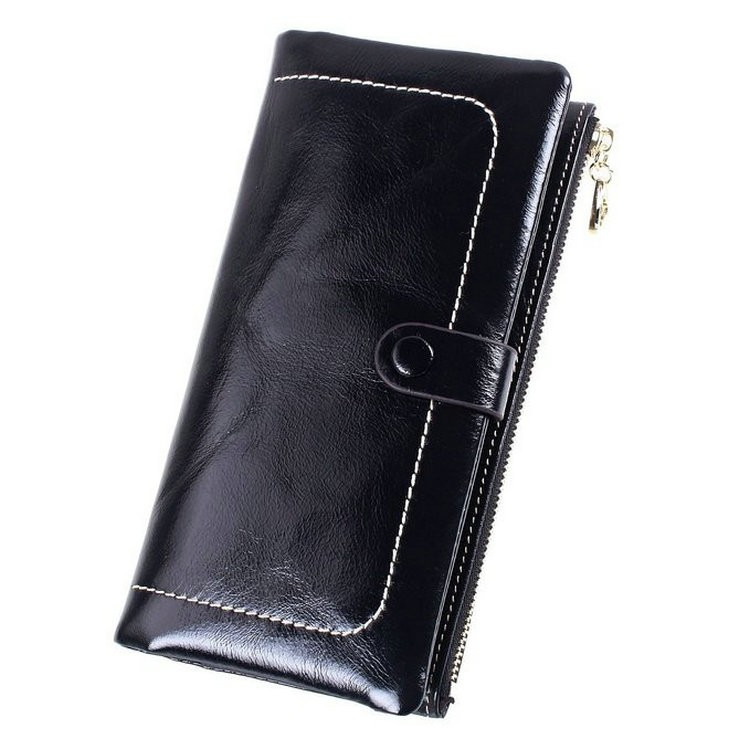 genuine womens leather wallets black
