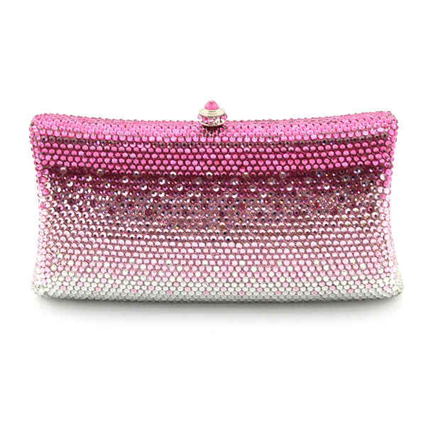 Pink Crystal Evening Clutch Bag Women Brand Bags Wedding Diamond Handbags Bridal Metal Clutches Bag(1019-GPV) luxury crystal clutch handbag women evening bag wedding party purses banquet