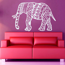 Wall Decal Elephant Mandala Meditation Buddha Home Decor Bohemian Bedroom Living Sticker Removable Art Vinyl Mural M-83