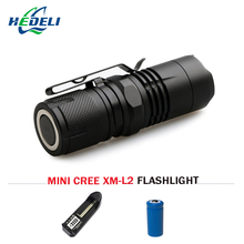 Portable Mini Flashlight cree xm l2 LED lantern 4 Modes Zoomable Waterproof torch penlight for bike With Magnet