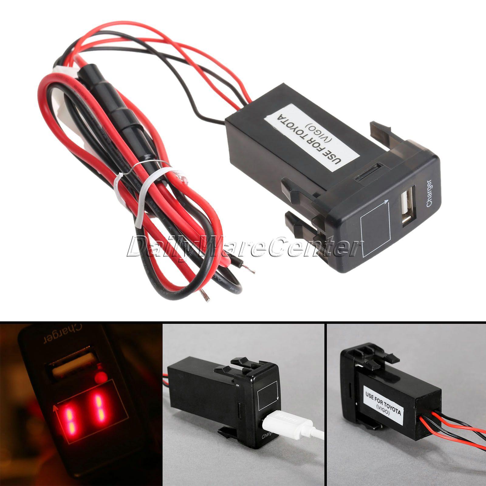 Авто 12 В 2.1a USB Порты и разъёмы приборной панели телефона Зарядное устройство адаптер с Вольтметр для Toyota Ipad GPS телефон Питание автомобиля инт...