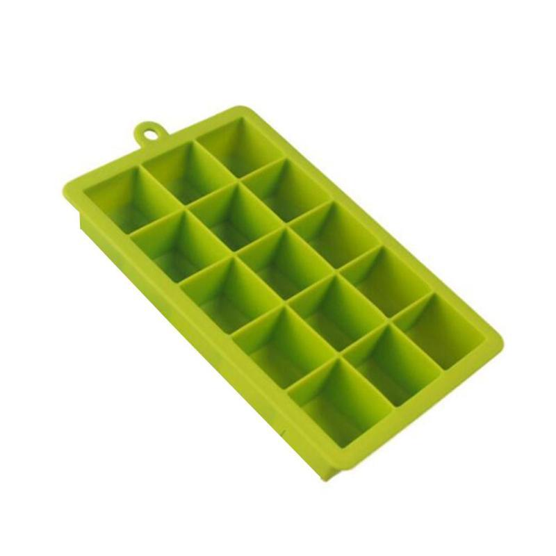 DIY Ice Lattice Box Pudding Box Creative Safety silicone 15 grid diamond ice boxes ice cube mold Ice Tray Kitchen Bar Tools 3