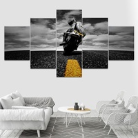 5 Piece Canvas Art Motorcycle poster Painting Wall Art Canvas Wall Pictures for Living Room Modular pictures
