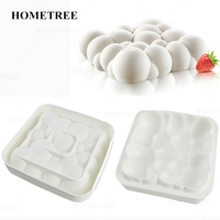 HOMETREE White Silicone Mousse Cake Mold Cloud Shaped Baking Mold Kitchen Bakeware Supplies Silicone Kitchen Accessories