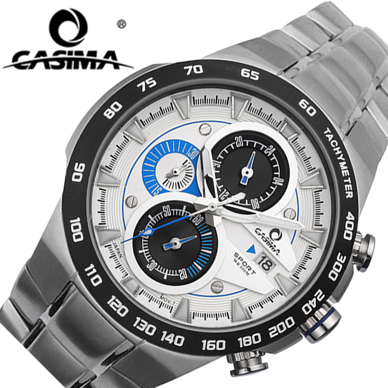 Luxury Brand Top Mens Military Sports Watches Men Quartz Waterproof Wristwatch 50m CASIAM Male Sport Steel Watch Masculine Clock xinge top brand luxury leather strap military watches male sport clock business 2017 quartz men fashion wrist watches xg1080