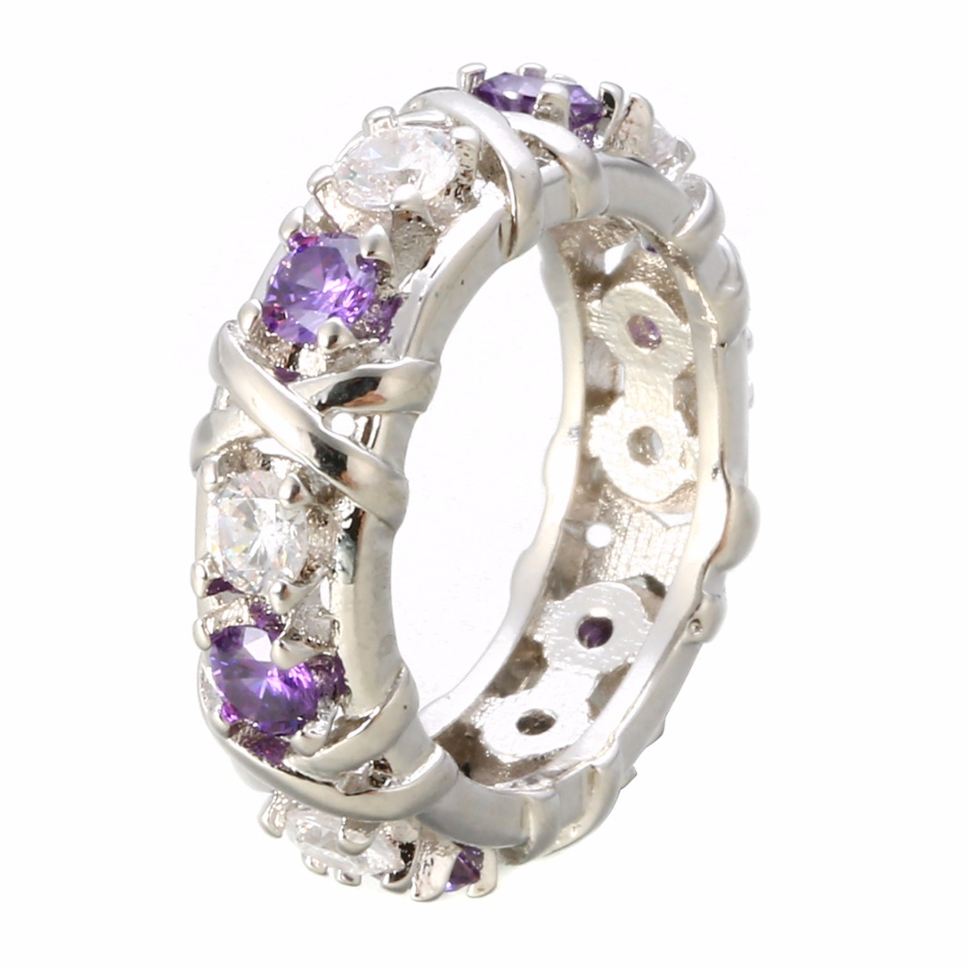 CZ Cubic Zircon Wedding Ring Chic Crystal Cross Finger Rings Fashion Jewelry Accessories For Women Anillos Mujer