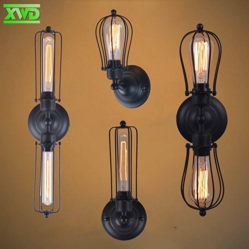 Vintage železni okvir LED svetilka v zaprtih prostorih industrija / - Notranja razsvetljava - Fotografija 2