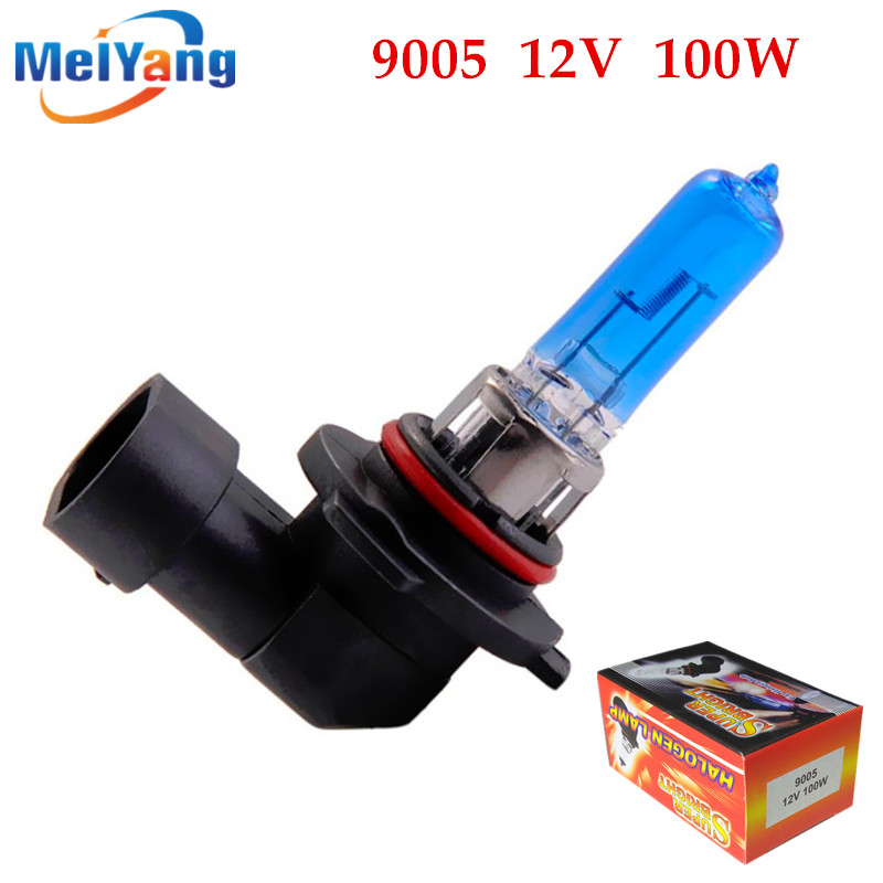 9005 100W HB3 100W Halogen Bulbs super white Headlights fog lamps light running Car Light Source parking 12V head auto day