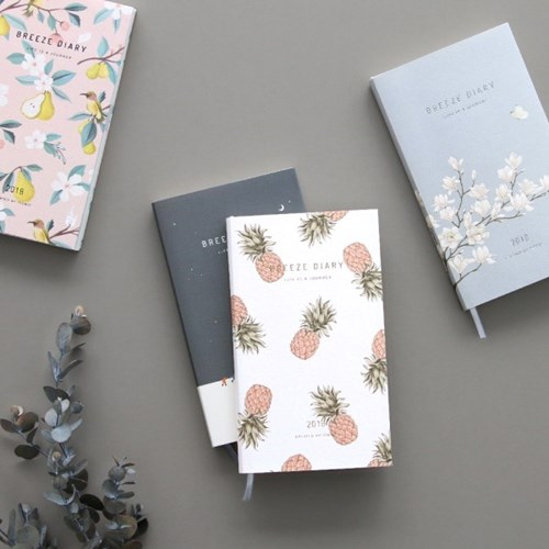 Delicate Floral Design Colorful Paper Breeze Diary Journal Gift 9.5*16.5cm Pocket Weekly Planner 2018 Scheduler Book 176P