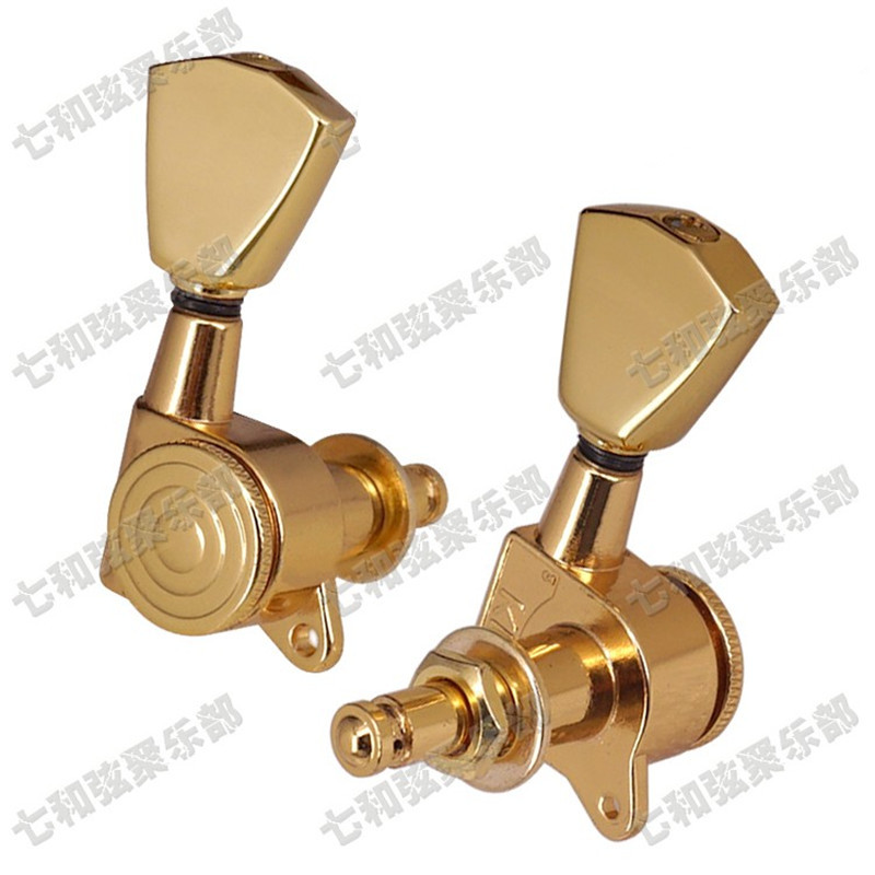 A Set of 6 Pcs Gold Locked String Guitar Tuning Pegs keys Tuners Machine Heads for Acoustic Electric Guitar Accessories parts electric acoustic guitar string tuning pegs keys tuners machine heads 3x3 gold 2 set page 2