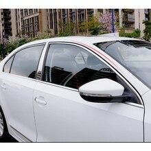 Lsrtw2017 304 нержавеющая сталь окна автомобиля Планки для volkswagen jetta mk6 2012 2013 sagitar