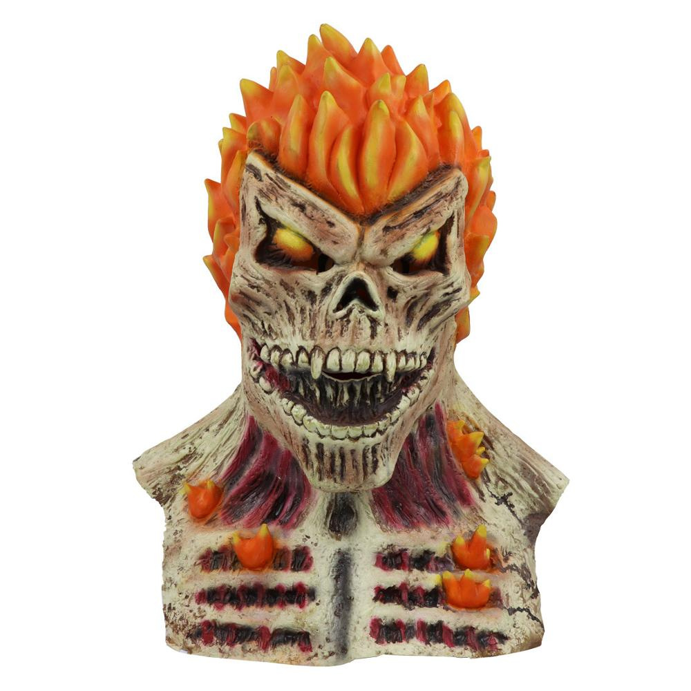 Ghost Rider Cosplay Latex Mask Adult Halloween Cosplay Dark Phoenix Cosplay Masks Gift Drop Ship