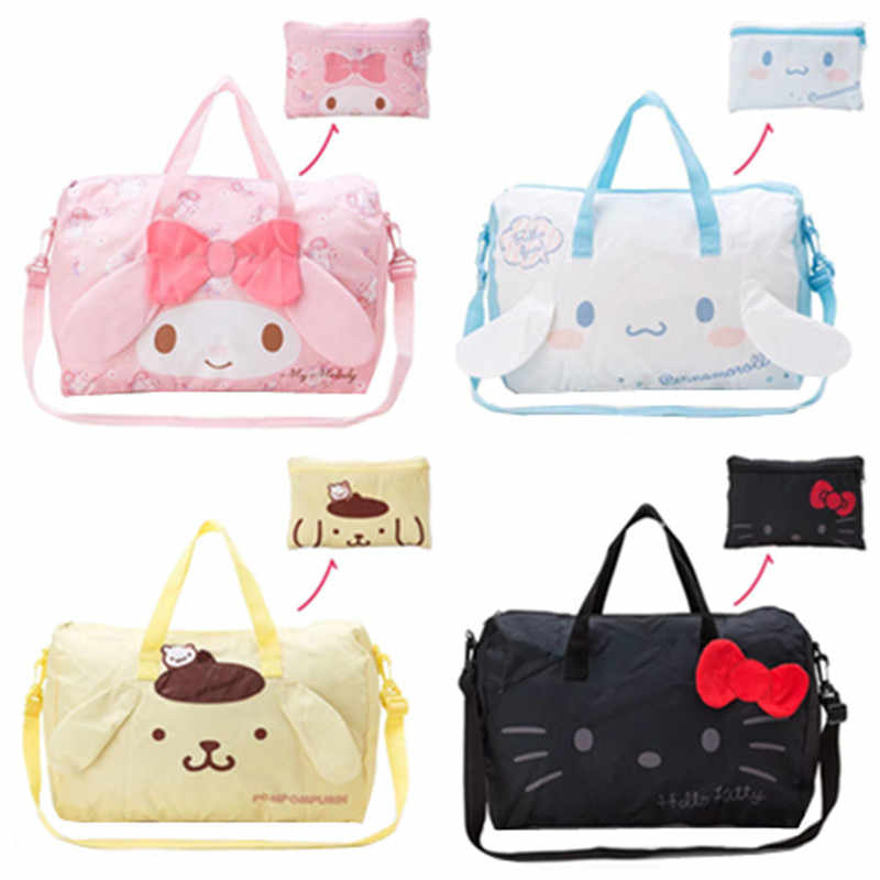 Detail Feedback Questions about Kawaii Cute Cartoon Hello Kitty Cat My  Melody Foldable Folding Trolley Travel Bag Women Girls Tote Duffle Bags  Hand Luggage ... 9c3a3cec8a4cb