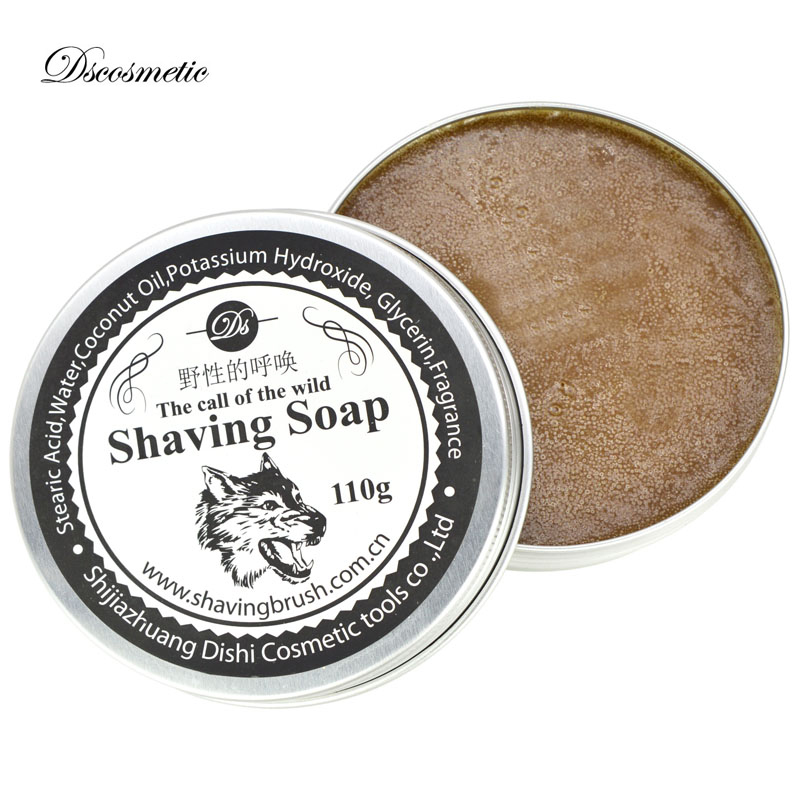Mustache Shaving Soap Deluxe Men's Round Facial Care Rosin Flavor Beard Shaving Soap Barbering Shave Tool Product
