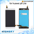 "Tested 5.0"" For Huawei  P8 Lite LCD Ascend P8 Lite Display With Touch Screen Digitizer Black White Gold 1 Piece Free Shipping"