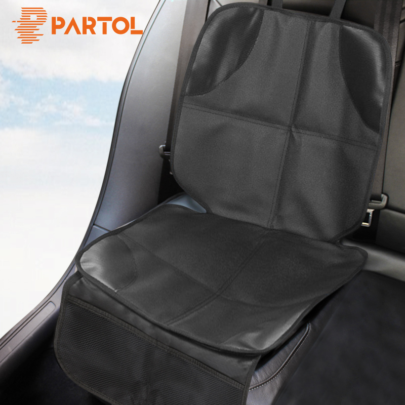 Partol Universal Car Seat Cover Breathable Car Seat Protector Child Baby Auto Seat Protector Mat Pad Oxford Cotton PU Anti-skid