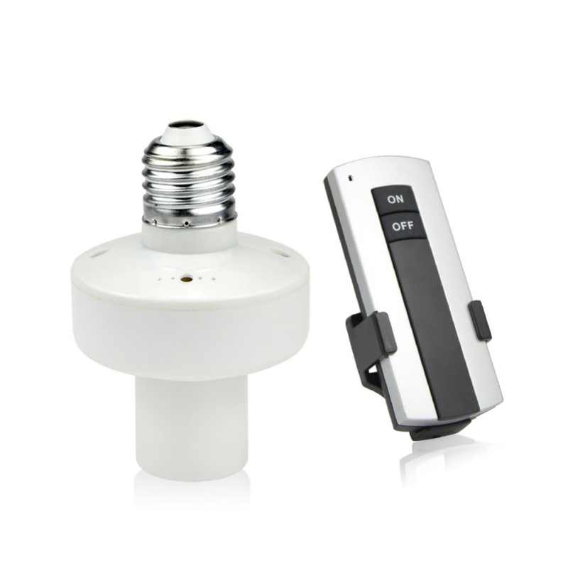 High Quality 1 Pcs Durable E27 Screw LED Light Lamp Base Holder With Wireless Remote Control Switch Bulb Socket led