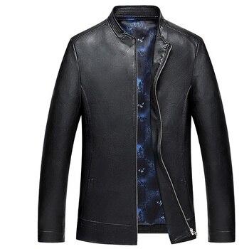 1859 New Fashion Men Spring Clothing Men's Leather Jacket  Zipper Men's Coat Genuine Leather Overcoat Men's Autumn coat