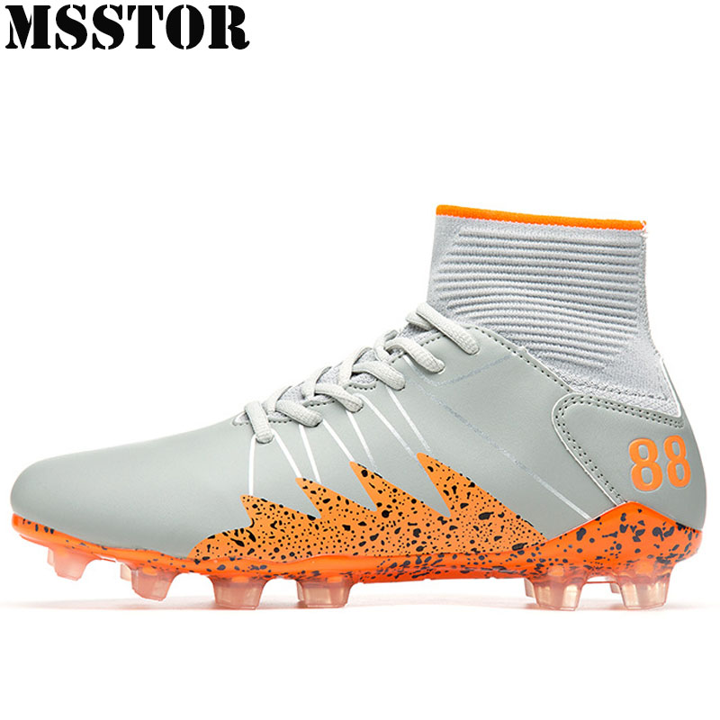 MSSTOR Adults Men's Outdoor Soccer Shoes Man Brand Turf Football Boots Men Sneakers Training Soccer Cleats Sport Shoes For Male tiebao soccer sport shoes football training shoes slip resistant broken nail professional sports soccer shoes
