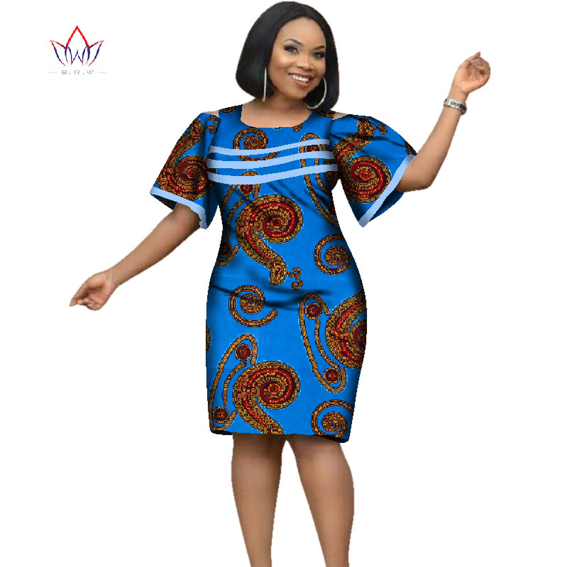 professional design beautiful in colour best sneakers US $34.29 30% OFF 2019 Africa Dress For Women African Wax Print Dresses  Dashiki Plus Size Africa Style Clothing for Women Office Dress WY2353-in ...