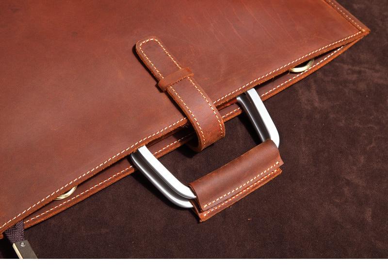 HTB1oILEmBjTBKNjSZFwq6AG4XXas Genuine Leather Men's Handbags Crazy Horse Leather Man Retro Tote Bag Shoulder Messenger Bag Business Men Briefcase Laptop Bag