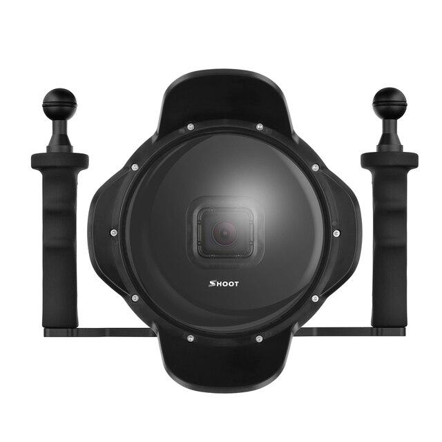 """6 """"ดำน้ำใต้น้ำกล้องเลนส์ Dome W/Fisheye มุมกว้างเลนส์สำหรับ GoPro"""