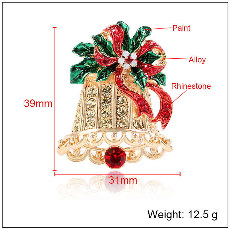 CINDY XIANG Exquisite Paint Christmas Bell Brooches For Women Cute Colorful Creative Pins Sweater Coat Dress Accessories Jewelry