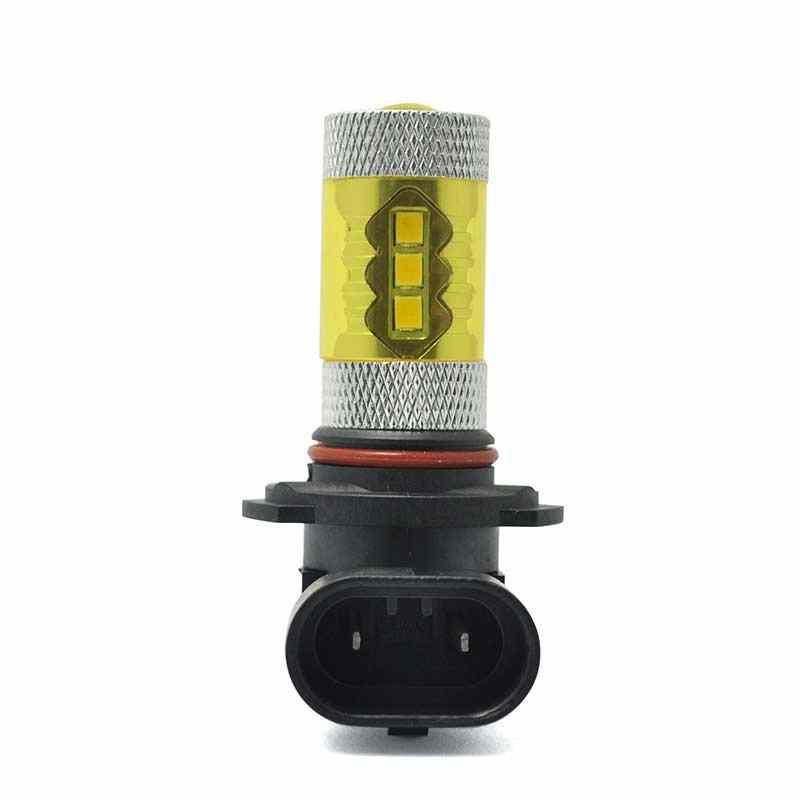 2 piezas H10 9145, 6000 K blanco + oro amarillo 80 W LED de niebla de coche Luz de bombilla 2323 YAN88