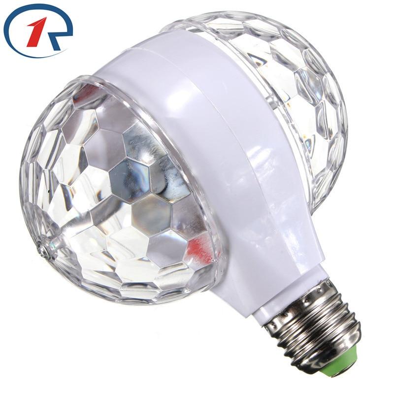 ZjRight 3Wカラフルな回転RGB LEDステージライトクリスマスパーティーエフェクトライトマジックダブルボールカラフルなLED KTVバーDJディスコライト