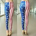 New 2016 American Flag Printed Elastic Leggings Pants Graffiti Seamless Punk Gothic Workout Leggings Slim Skinny Leggings Women