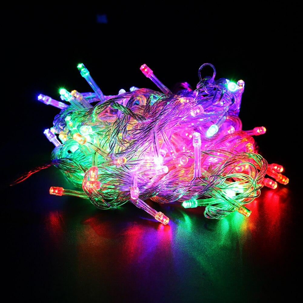 Ledsträngslampor 2M 3M 4M 1M 10-40Leds 9 färger drivna med batteri - Festlig belysning - Foto 3