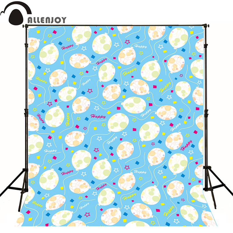AllEnjoy photography background Balloon birthday blue stars newborn vinyl flags Professional photographic backdrop studio  allenjoy photographic background castle butterfly purple stars newborn photography photo for studio send rolled wood