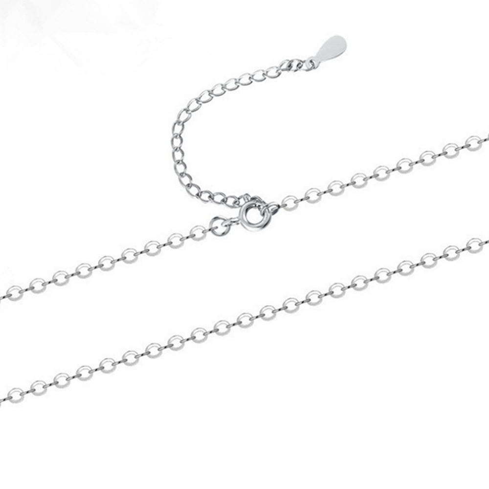 Hot Sale 925 Sterling Silver Pendants Necklaces 40+5cm O Cross Chain Basic Necklaces Fit Women Party Wedding Necklaces Jewelry
