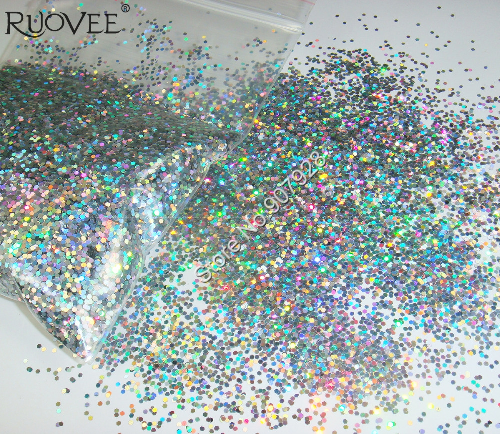 buy 50g bag laser holographic silver dazzling hexagon glitter paillette. Black Bedroom Furniture Sets. Home Design Ideas