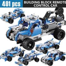 401PCS DIY Kit R/C 10 in 1 Race Cars Building Bricks Radio Control Racing Toy For Remote Controls toys A702