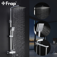 FRAP Shower Faucets New bath shower mixer bathroom shower faucet taps with rain shower head set system waterfall faucet tapware