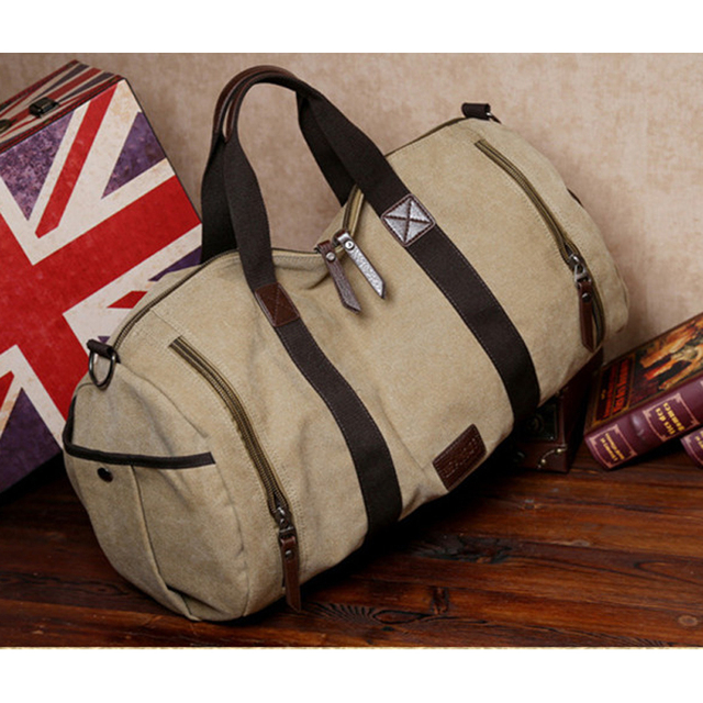 2016 Fashion Cotton Canvas Carry On Luggage Bag Men Travel Bag Large Duffle  Bags of trip e1f70c6587d52