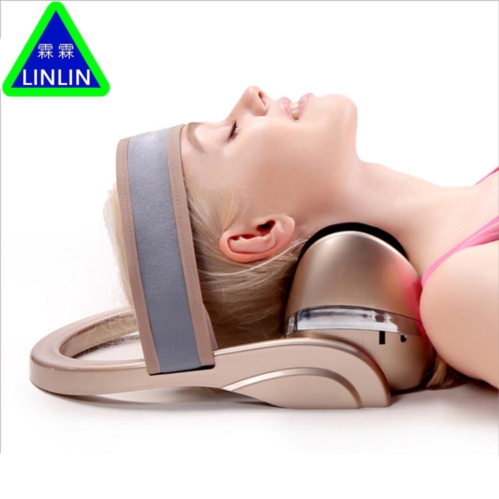 LINLIN Electric cervical massage apparatus Horizontal cervical tractor Massage pillow Neck spine Treatment of cervical vertebrae