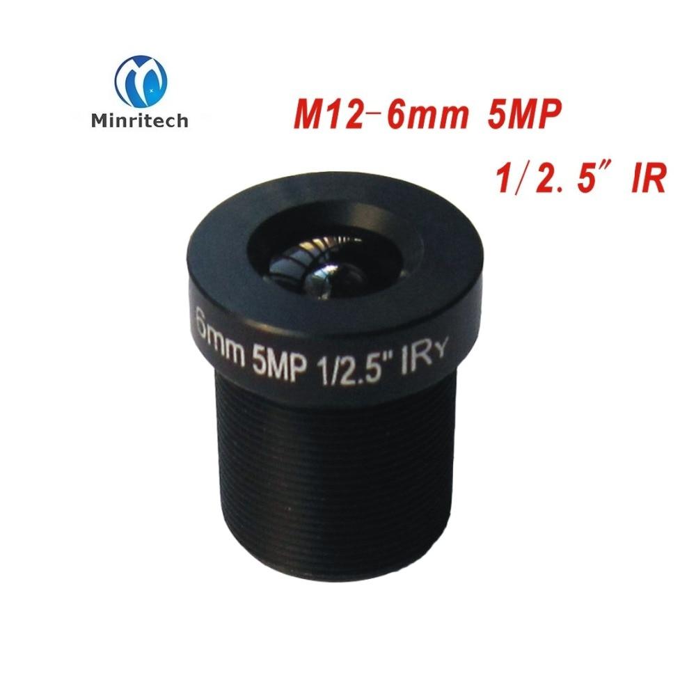 10pcs CCTV Lens 5MP 1080P 60degree 1/2.5'' 6mm For HD Full HD CCTV Camera IP Camera M12*0.5 MTV Mount AHD CCD module new cctv lens 1 2 5 inch 6 22mm 5mp m12 mount varifocal lens f1 6 for 4mp 5mp cmos ccd sensor security ip ahd camera
