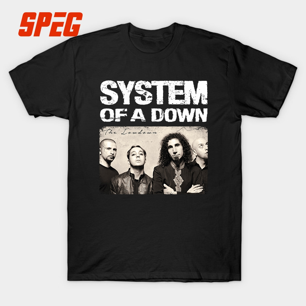 System Of A Down Logo   T     Shirt   Men Vintage Picture Custom Short Sleeve Tee Cotton O Neck XXXL Gift Tee Tops Male Plus Size