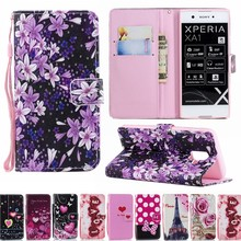 Luxury Flip Case For Sony XPERIA XA1 Plus XA2 XZ2 Ultra XZ1 Compact XZ Premium L1 L2 Wallet Bags Leather cute Silicon Phone case(China)