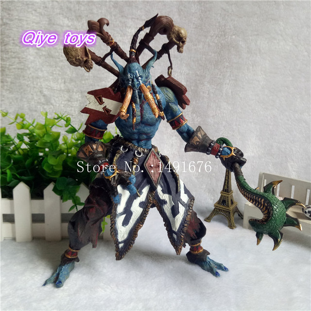 23cm Jungle Troll Priest Action Figure 1/8 scale painted figure Jungle Troll Priest Doll PVC ACGN figure Toys Brinquedos Anime