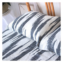 3pcs High Quality Jacquard Heavy Linen flat sheet pillow towel  linen bedding 3 color