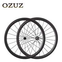 Таможенные пошлины Бесплатная заводская цена OZUZ на 38 мм 50 мм Глубина Ultra light углерода колесная 700C довод Трубчатые углеродного волокна колеса