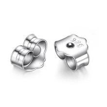 Заглушки для сережек «Бабочка» из серебра 925 пробы, 50 шт./лот