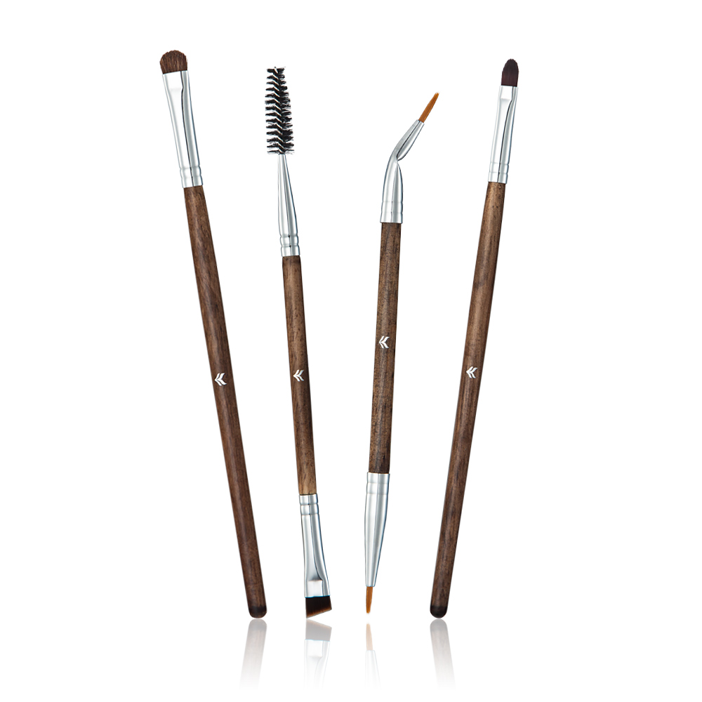 HML 4 pcs  Makeup Brush Tools Of Beauty With The Wooden Handle Which Make Beauty Closer To The Nature assisted soldering tools sa 10 6pcs maintenance tools to disassemble and clean the board brush hook to push fork cones
