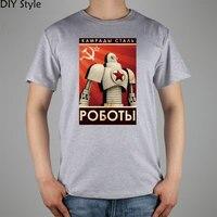 COMMUNIST GIANT ROBOT CCCP Short Sleeve T Shirt Top Lycra Cotton Men T Shirt New DIY